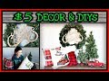 Farmhouse Christmas DIY & Dollar Store Christmas Decorations 2018