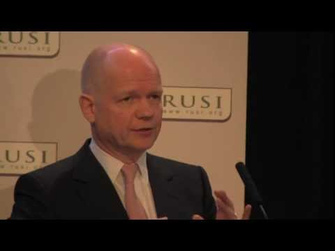 Foreign Secretary William Hague on Counter Terrorism