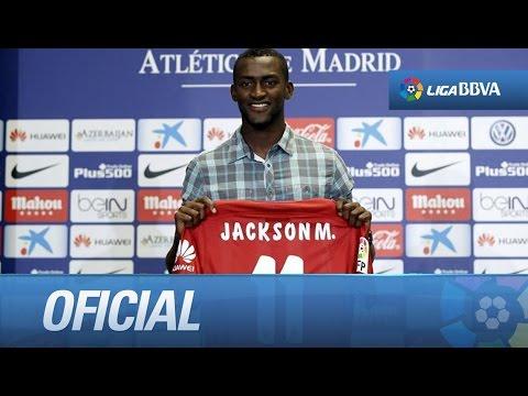 Presentación de Jackson Martínez como nuevo jugador del Atlético de Madrid