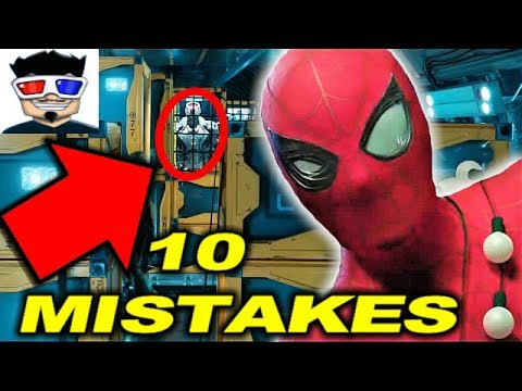 10 SPIDERMAN HOMECOMING (2017) MISTAKES 🕷 thumbnail