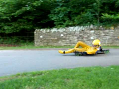 Will Stephenson Streetluge Crash and jump!