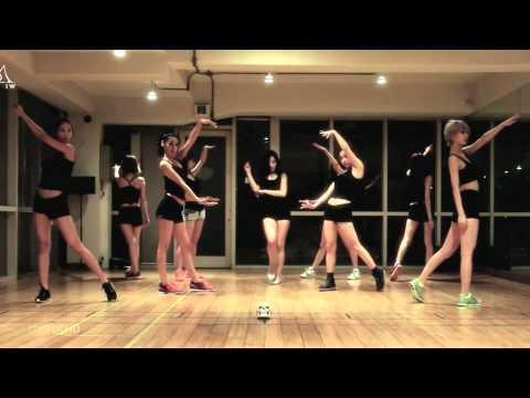 Nine Muses 'wild' Mirrored Dance Practice video