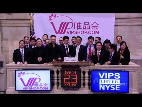 Vipshop celebrates completion of IPO and rings the NYSE Opening Bell