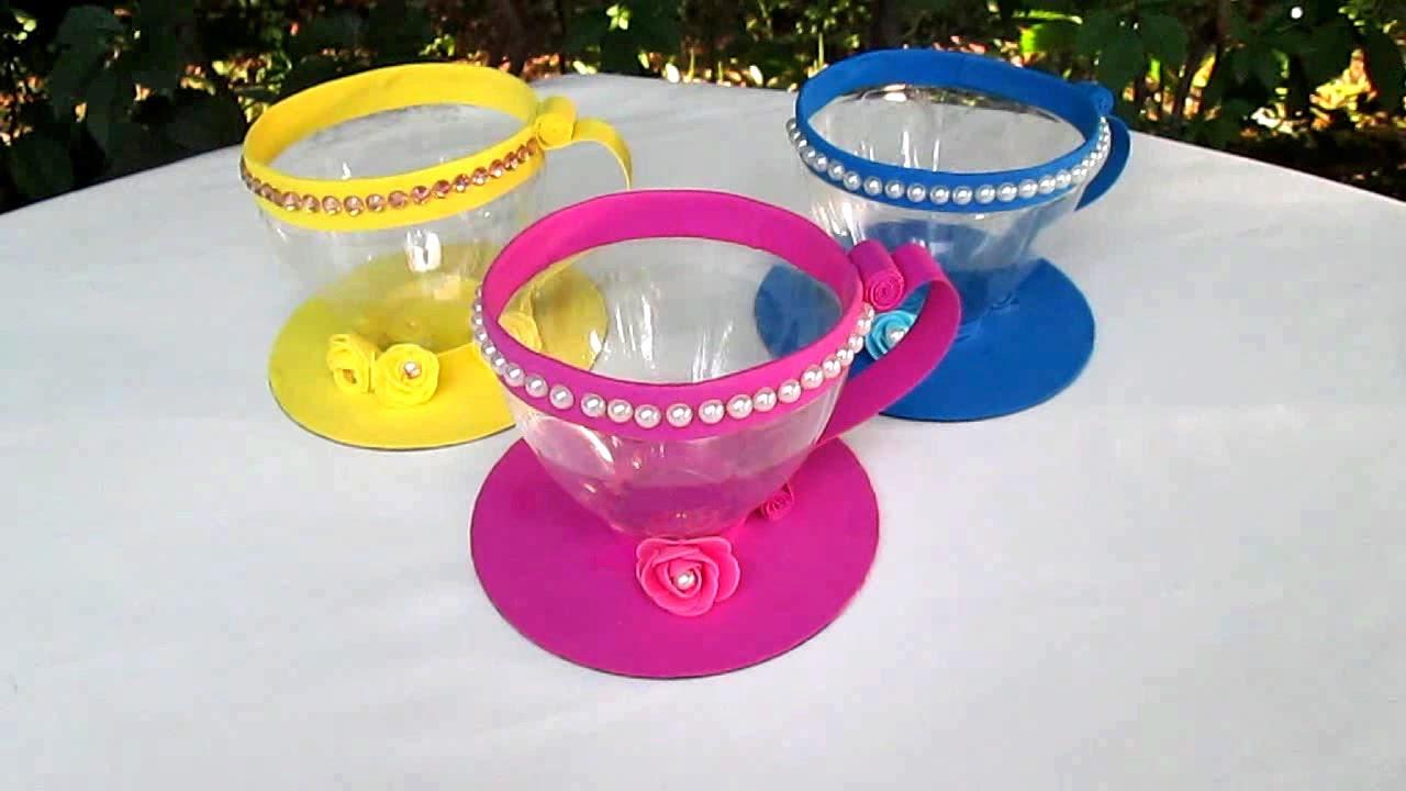 Посуда из пластиковых бутылок своими руками 67