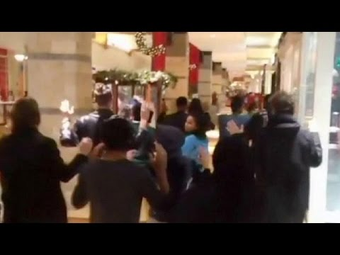Black Friday shopping protest in Ferguson over Michael Brown shooting