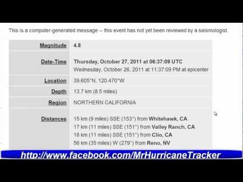 Magnitude 4.8 Earthquake Northern California