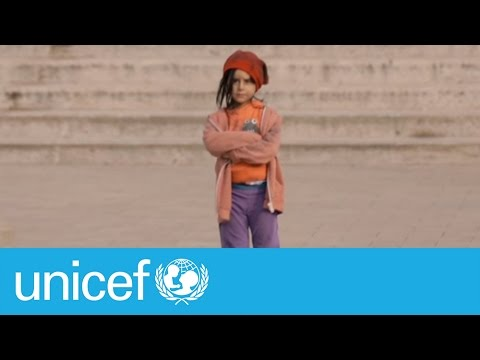 Would you stop if you saw this little girl on the street?   UNICEF
