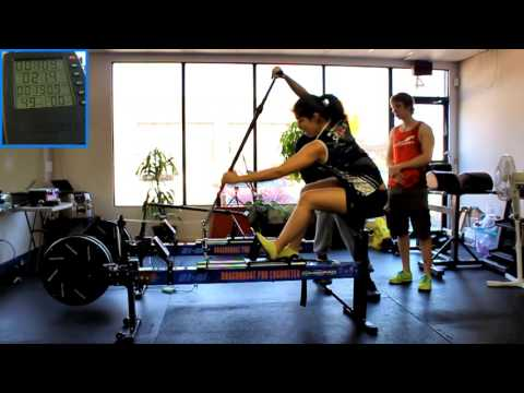 Sarah - 418.2 m - Iron Dragons 2 Minute Dragon Boat Paddle Erg Test - Apr 16, 2016