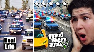 GTA 5 VS VIDA REAL!! GRAND THEFT AUTO V EN LA VIDA REAL
