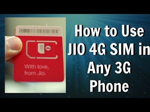 How To Use JIO SIM In 3G Mobile Phone - देखिए JIO SIM को 3G फ़ोन में कैसे यूज़ करें