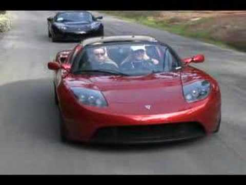 Tesla Roadster On the Road Video