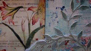 Mixed Media Art Canvas - Flora