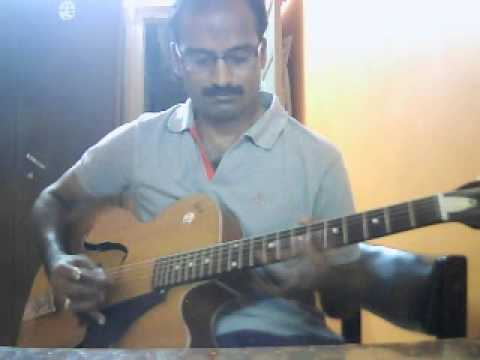 Neele Neele Ambar par (Hindi) on Guitar Instrumental by Sreekumar...