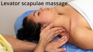 "How to massage a ""crick in the neck"" (myofascial release for neck stiffness)"