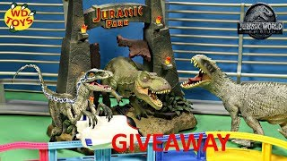 New Jurassic World Dino Rivals 4 Sets Unboxing Giveaway Magformers Sky Track Playset Dinosaur Toys