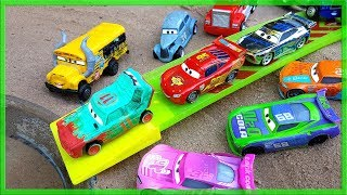 Learn Numbers with Disney Cars Racing into Water