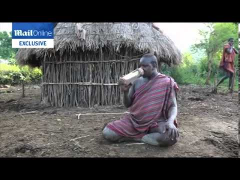 Men In The Bodi Tribe In Ethiopia Compete To Be Crowned Fattest Man video