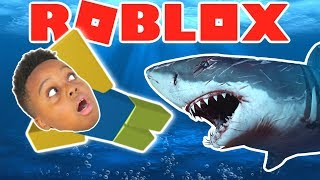 SWIM FROM THE SHARKS!! - Roblox
