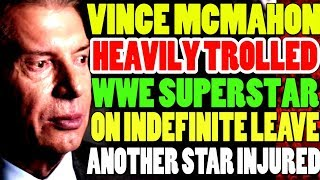 The Fiend Vs Daniel Bryan! WWE Superstar Goes On Indefinite Leave! Vince McMahon Trolled! WWE NEWS!