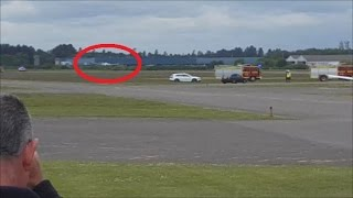 AMAZING EMERGENCY LANDING with Crash Crew out for nose wheel failure at Blackbushe