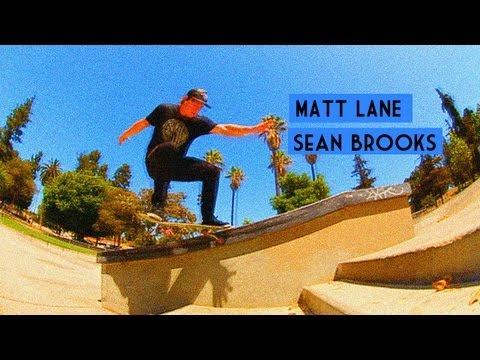 Matt Lane and Sean Brooks Skate Lincoln Plaza