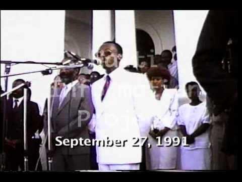 Did Aristide support violence and pe lebrun in Haiti? - Speech - Sept. 27, 1991