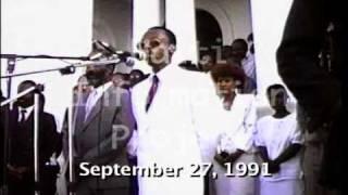 VIDEO: FULL Diskou President Aristide 27 Sept 1991 - Eske li te sipote Violence ak Pe Lebrun?