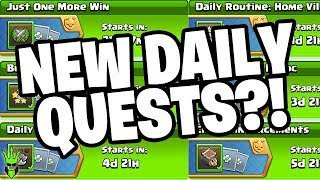 NEW DAILY QUESTS IN CLASH OF CLANS !?!