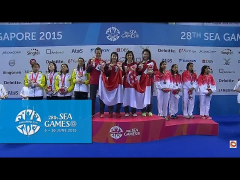 Swimming Women's 4x200m Freestyle Relay Victory Ceremony (Day 3) | 28th SEA Games Singapore 2015