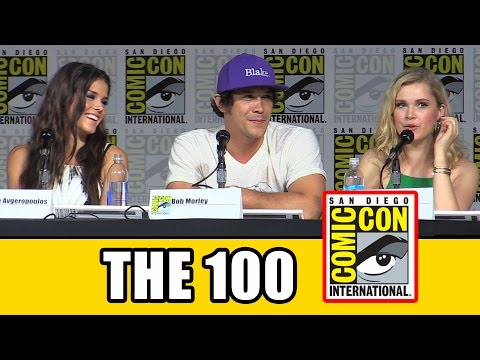 The 100 Comic Con Panel Eliza Taylor, Marie Avgeropoulos, Lindsey Morgan, Bob Morley, Ricky Whittle