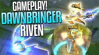 DAWNBRINGER RIVEN SKIN GAMEPLAY!! Her Ult..WOW.. | Skin Spotlight - League of Legends