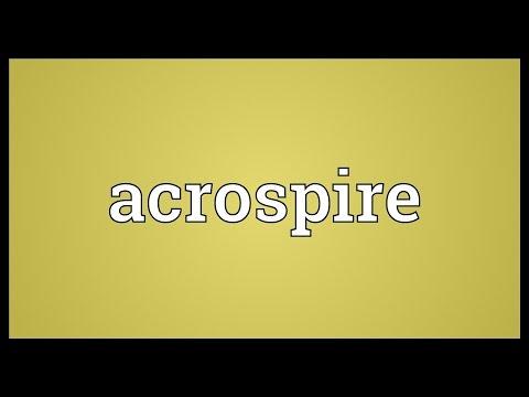 Header of acrospire