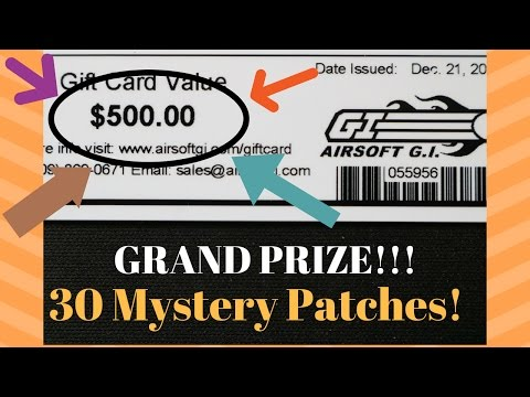 $500 GIFT CARD! ft. Airsoft GI's New Years Mystery Patch Package   30 Mystery Patches!