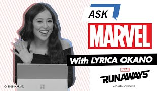 Lyrica Okano Answers Your Riveting Runaways Questions | Ask Marvel