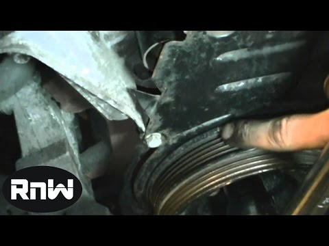 How to replace the Timing belt on a 2004 VW Passat Audi 1 8L Turbo Engine Part 2