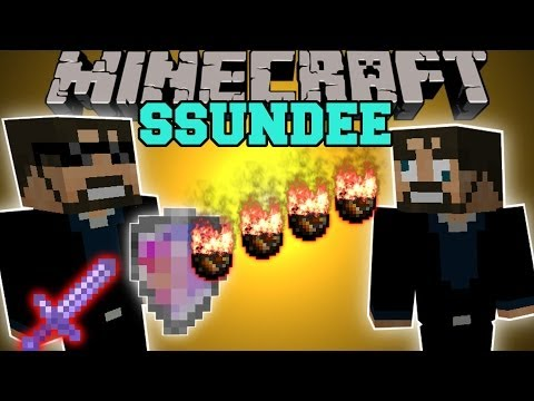 Minecraft: SSUNDEE MOD (DERP SSUNDEE BOSS. INVINCIBLE SHIELD. & MORE!) Team Crafted Mod Showcase