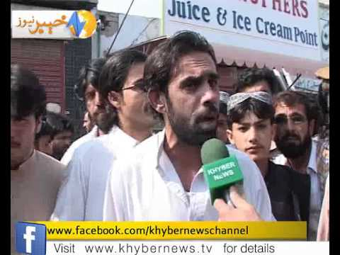 IDPs  protest against administration report by naseer azam mehsud_(new)