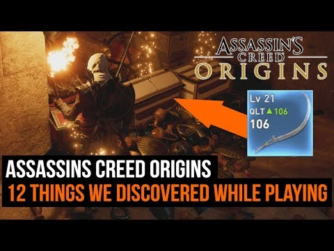 Assassins Creed Origins -12 Things We Discovered While Playing