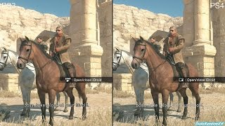 Metal Gear Solid 5 The Phantom Pain PS4 Vs PS3 Graphics Comparison