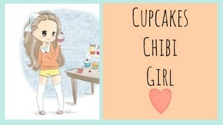 The Food Chibi Series - Cupcakes Girl (Speed Drawing)