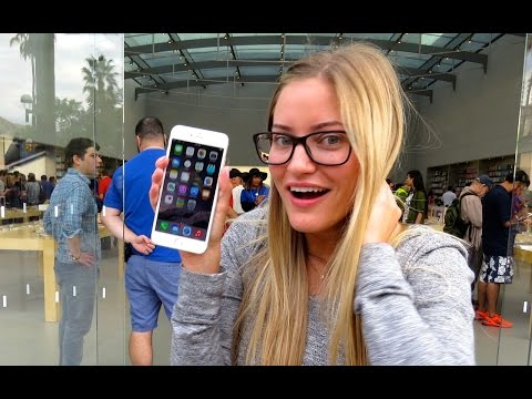 YouTube Star iJustine gets 1st iPhone 6 Plus at Apple Third Street Promenade