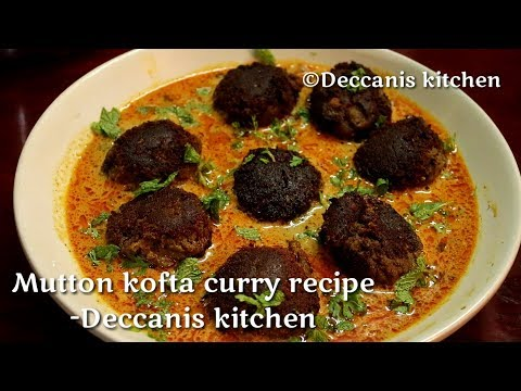 Mutton kofta curry recipe|| Hyderabadi Kofte ka salan recipe||Mutton meatballs curry recipe
