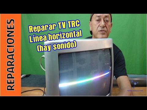 Reparar TV TRC  Linea horizontal. Sin barrido-deflexi ón vertical