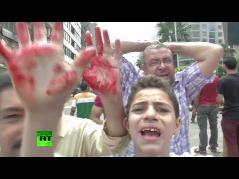 Cairo Crackdown Chaos: Video of deadly clashes as protests spread