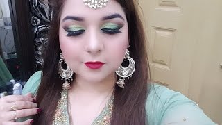 Indian and pakistani wedding guest makeup step by step in urdu/ hindi | Pakistani youtuber