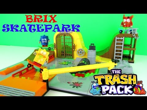 The Trash Pack: Brix Skatepark Building Toy Playset Fun Review. Cobi