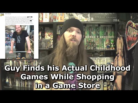 Guy Finds his Actual Childhood Games While Shopping in a Game Store