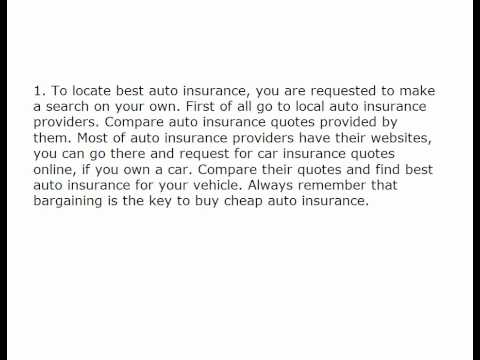 Best Auto Insurance - How To Find It The Right Way? 694976