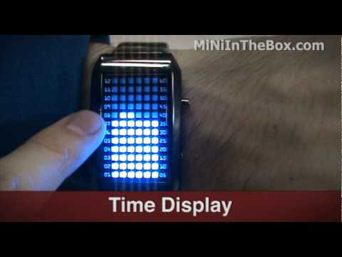 Futuristic Blue LED Watch From MiNiInTheBox