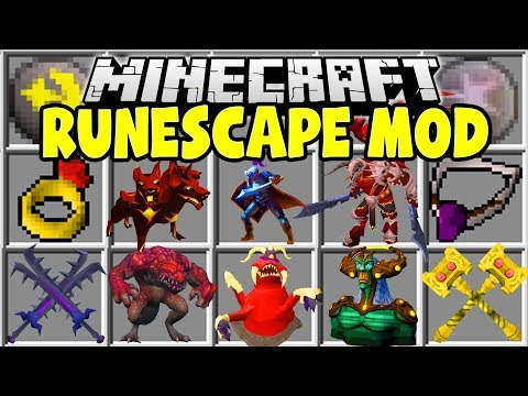 Minecraft RUNESCAPE MOD | GIANT SWORDS, HUGE BOSSES, NEW DIMENSIONS & MORE!!